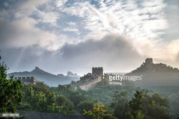 great wall of china - beijing province stock photos and pictures