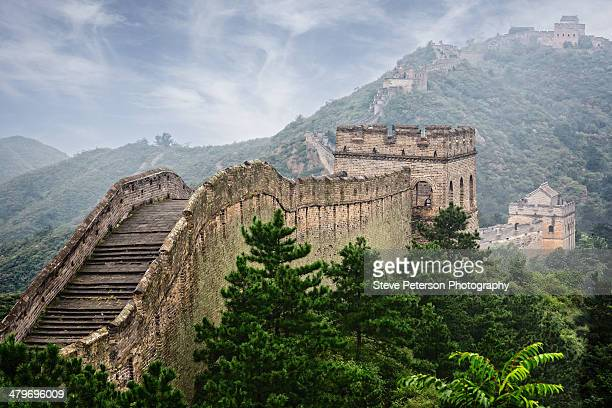 great wall - beijing province stock photos and pictures