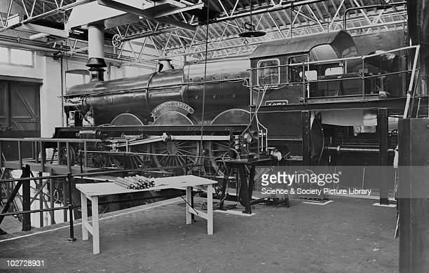 Great Western 460 Castle Class locomotive no 4074 'Caldicot Castle' at testing plant