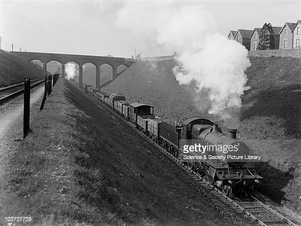 Great Western Railway 43 XX class 260 No 4377 Great Western Railway with an up goods train near Patchway England c1934