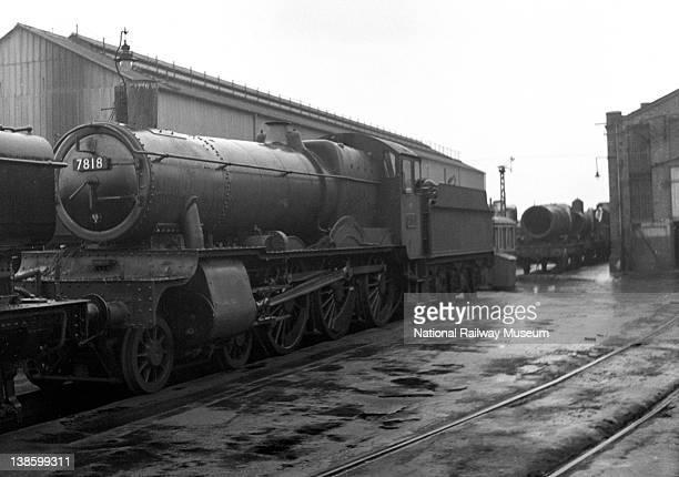 Great Western Railway 460 Manor Class locomotive no 7818 'Granville Manor' at Swindon 23 March 1952