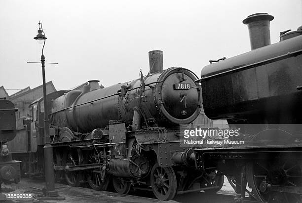 Great Western Railway 460 Manor Class locomotive no 7818 'Granville Manor' at Swindon 23 March 1952