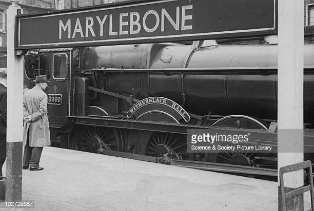Great Western Railway Hall class locomotive no 6990 'Witherslack Hall' at Marylebone 22nd June 1948