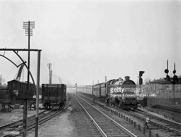 Great Western Railway King class 460 locomotive no 6003 'King George IV' West Ealing 30th April 1954 With dynamometer car no 7 on trial run...