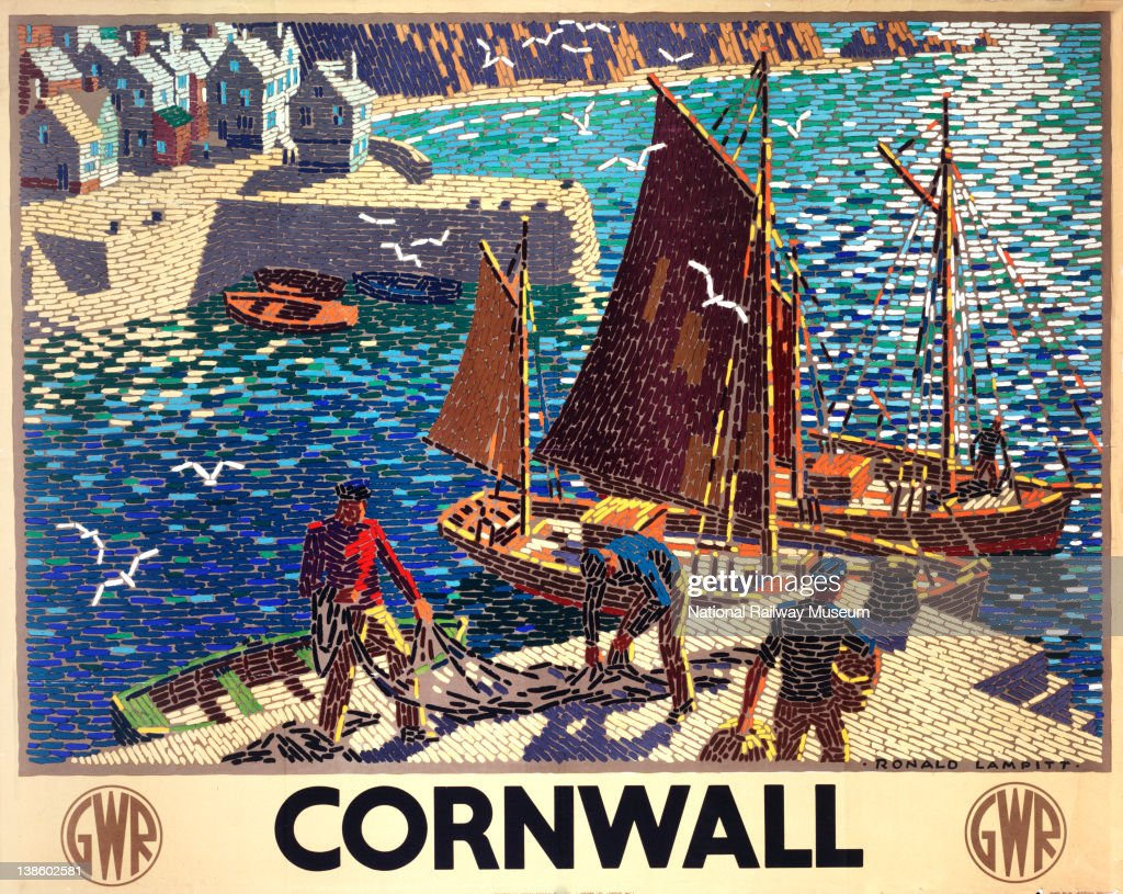 Poster, Great Western Railway, Cornwall by Ronald Lampitt, : News Photo