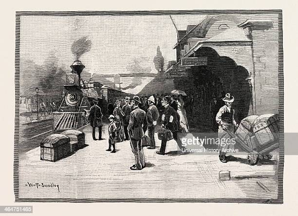 Great Western Railway Station Hamilton Canada Nineteenth Century Engraving