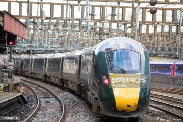 A Great Western Railway train operated by FirstGroup Plc departs from London Paddington railway station in London UK on Monday April 16 2018 British...