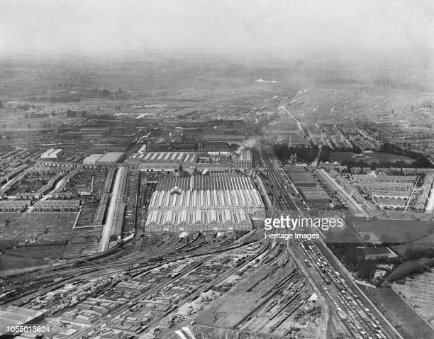 Great Western Railway Works Swindon Wiltshire 1920 Aerial view Artist Aerofilms