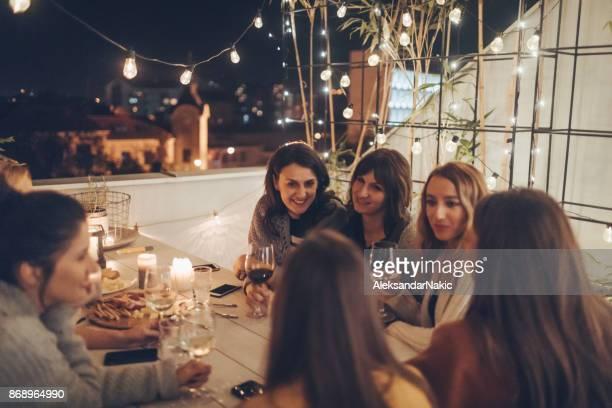 Grote wijn, eten en vrienden