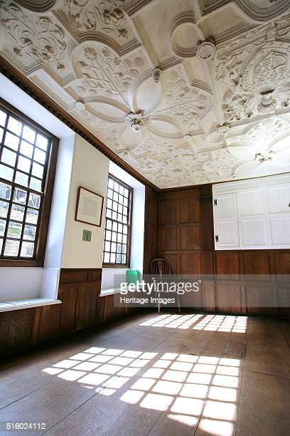 Great Yarmouth Row Houses, Norfolk, 2007. Interior view of a ground floor room showing windows and Jacobean plaster ceiling. Artist: Historic England...