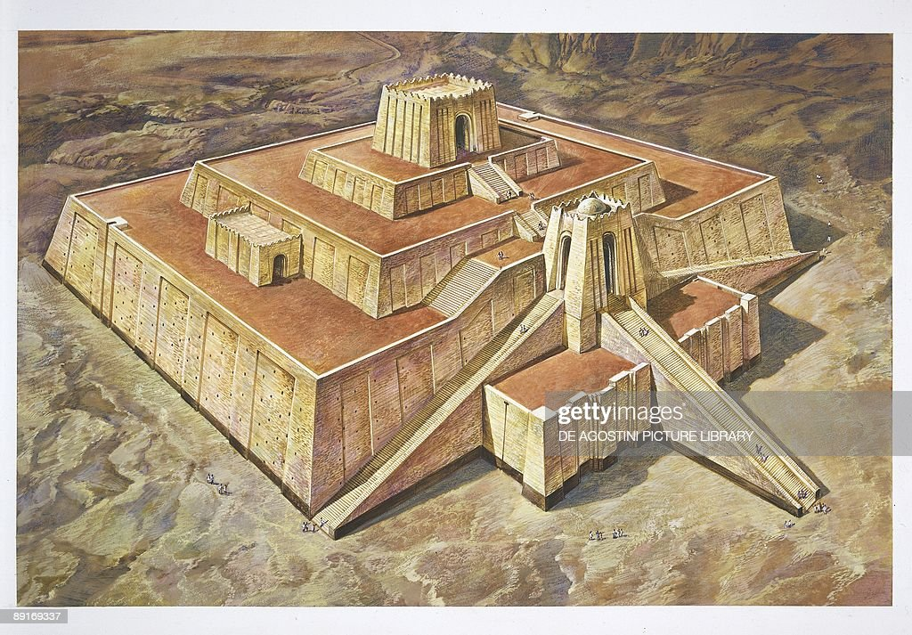 great ziggurat of ur illustration news photo getty images