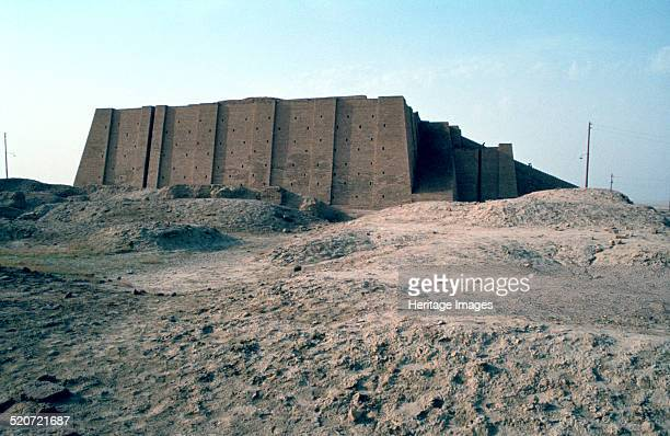 Great Ziggurat of Ur Iraq 1977 Ziggurats were temple towers of terraced pyramid form built by the ancient civilizations of Mesopotamia The example at...
