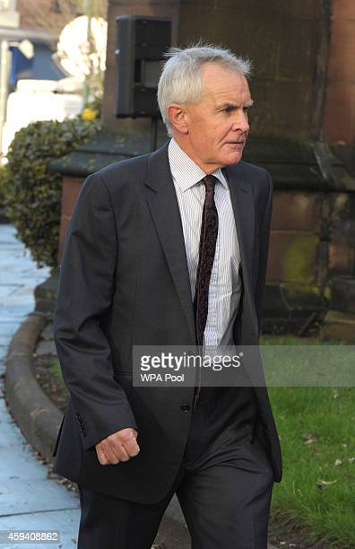 Greater Manchester Police Chief Constable Sir Peter Fahy arrives for a memorial service for murdered British aid worker Alan Henning at Eccles Parish...