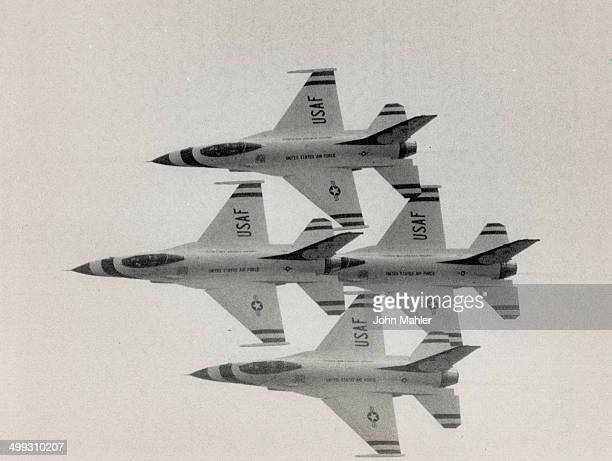 Greatest of ease The US Air Force aerobatic team the Thunderbirds above and at right ended the perfectly executed show of air dynamics at the...