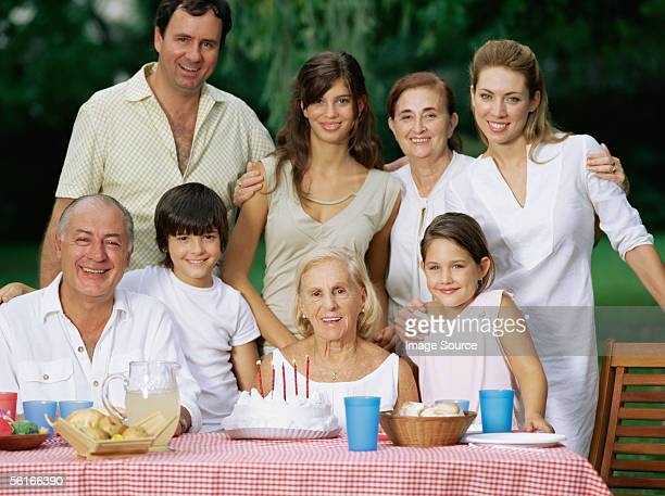 Abuela gran fiesta de cumpleaños