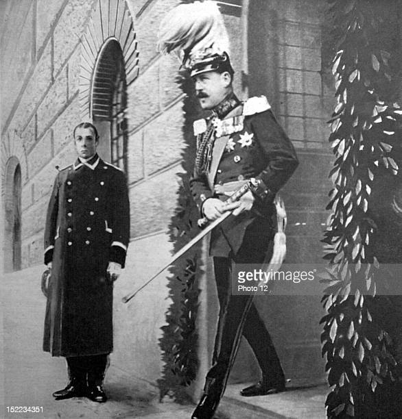Grece In Athens, King Constantine of Greece, dressed in the German uniform, on the day of the Kaiser's birthday.