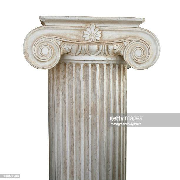 a grecian style scrolled column - column stock pictures, royalty-free photos & images