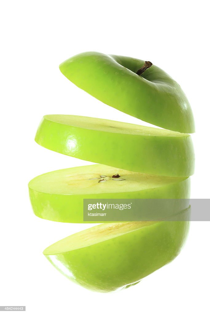 Greean Apple Sliced : Stock Photo