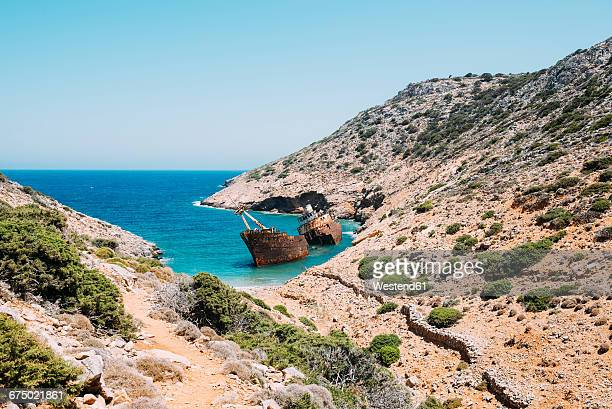 Greece, Amorgos, Shipwreck of the Olympia