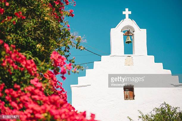 Greece, Amorgos, view to typical church