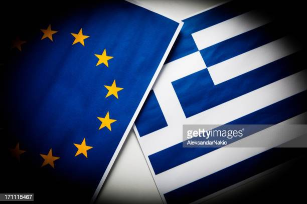 Greece and European Union flag