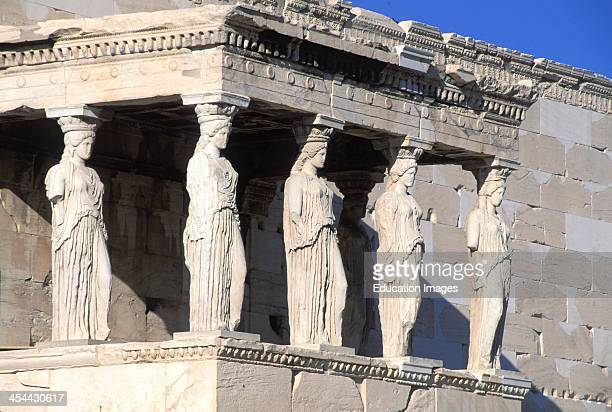 Greece Athens Acropolis Caryatids On The Erechtheion