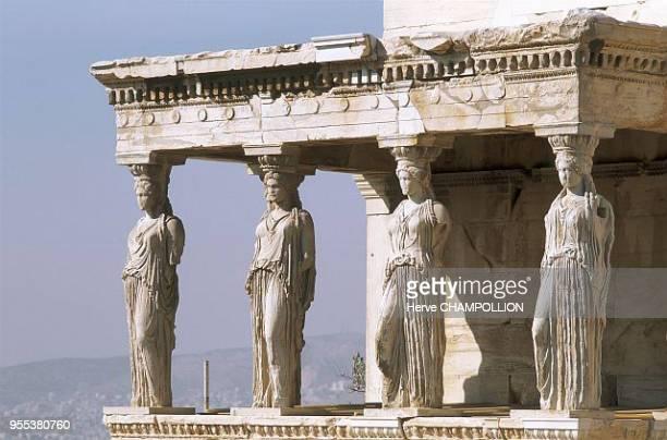 Athens Acropolis Erechtheion the Cariatids Grèce Athenes Acropole Erechtheion les cariatides