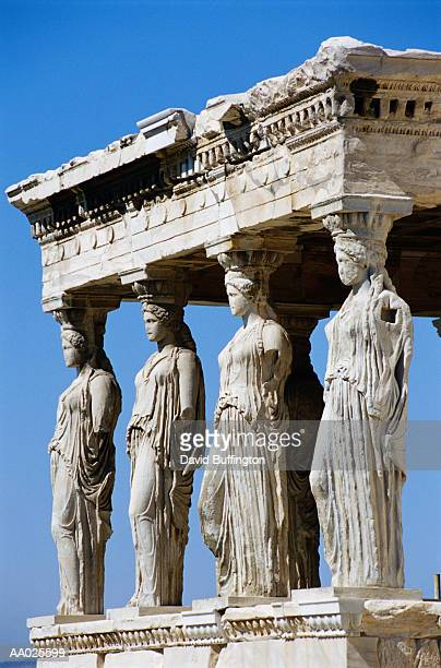Greece, Athens, Acropolis, Parthenon, Erechtheum, Porch of Caryatids