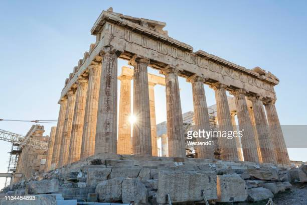 greece, athens, acropolis, parthenon - griechenland stock-fotos und bilder