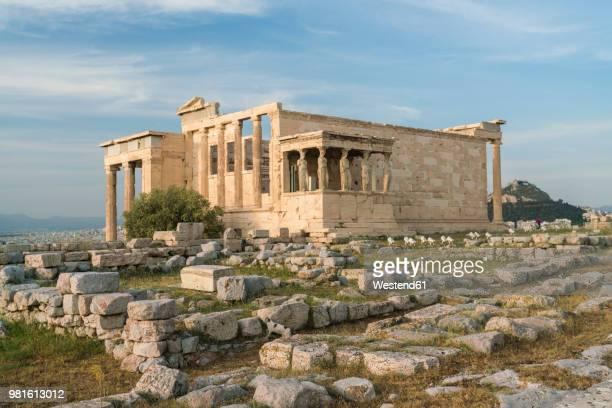 greece, athens, acropolis, parthenon - temple grec photos et images de collection