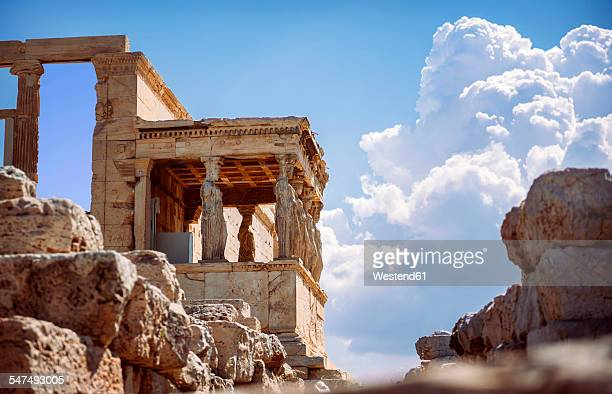 Greece, Athens, ancient porch of caryatides