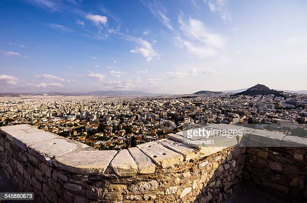 Greece, Athens, cityscape with Mount Lycabettus