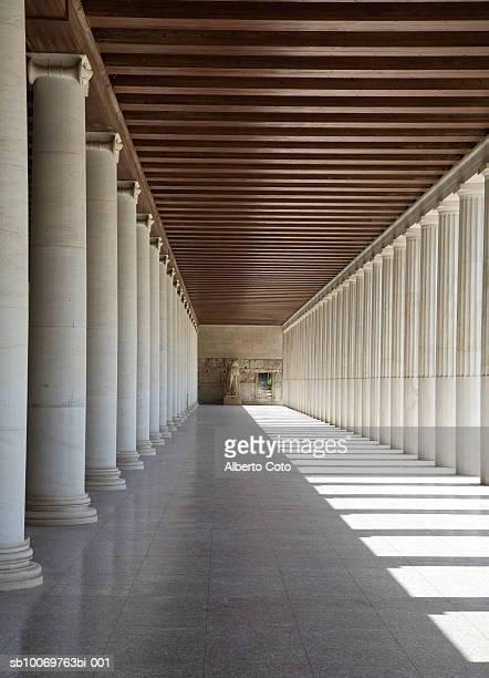Greece, Athens, columns of Stoa of Attalos