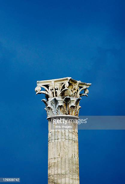 Greece, Athens, Corinthian column at Temple of Olympian Zeus