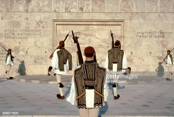 Athens Monument to the Unknown Soldier Grèce Athènes Monument du soldat inconnu