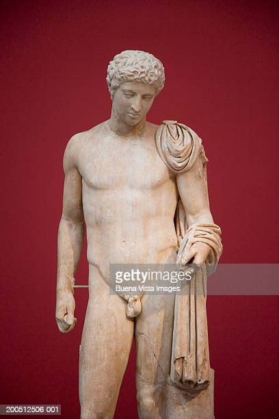 greece, athens, national museum of archaeology, statue of hermes - hermes stock pictures, royalty-free photos & images