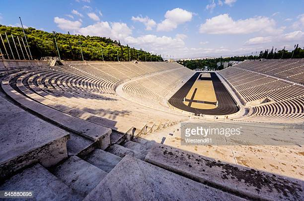 greece, athens, panathinaikos stadium of olympic games1896 - international multi sport event stock pictures, royalty-free photos & images