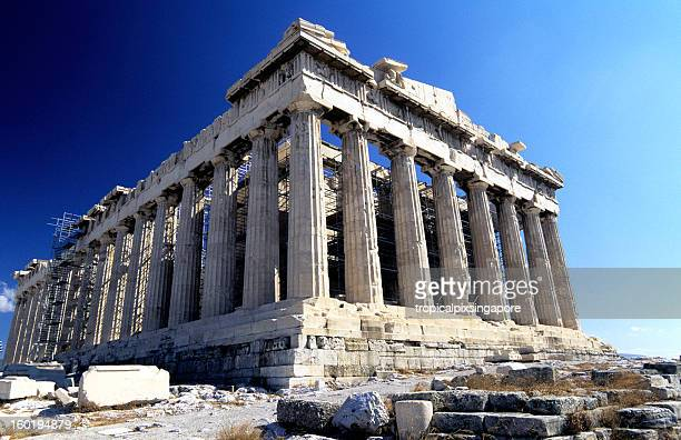 Greece, Athens, the Acropolis and Parthenon.