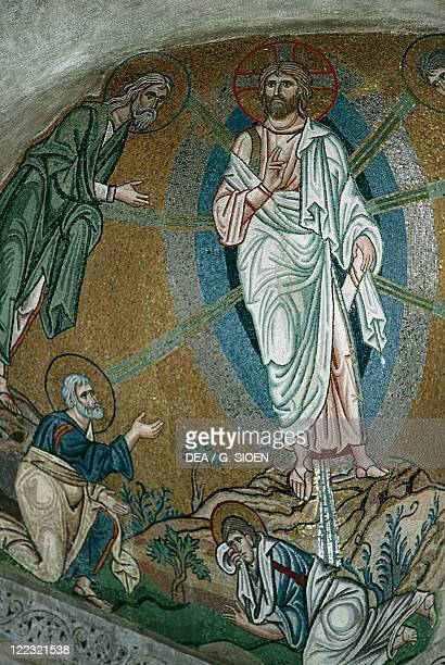 Greece Attica Athens Chaidari Daphni Monastery mosaic with Transfiguration of Christ on Mount Tabor 11th Century ad