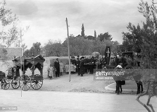 Greece Attika Attica Athen Athens Greek orthodox funeral 1907Vintage property of ullstein bild