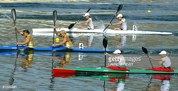 Bulgarian Delyana Dacheva and Bonka Pindzheva compete with Sewdish Sofia Paldanius and Anna Karlsson and Japanese Shinobu Kitamoto and Yumiko Suzuki...