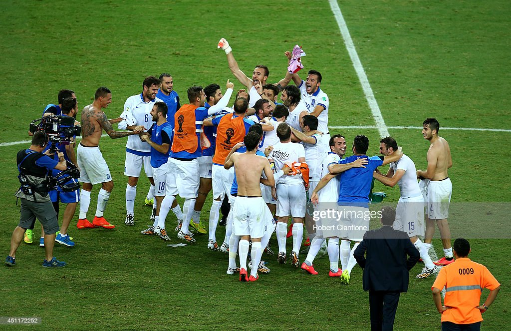 Greece v Cote D'Ivoire: Group C - 2014 FIFA World Cup Brazil : Nachrichtenfoto