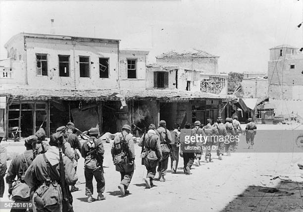 2WW Greece conquest of Crete 'Operation Merkur' '2005 war theatre german parachuters entering Heraklion end of May 1941