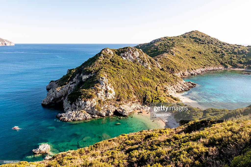Greece, Corfu, Cape Arilla near Afionas : Stock Photo