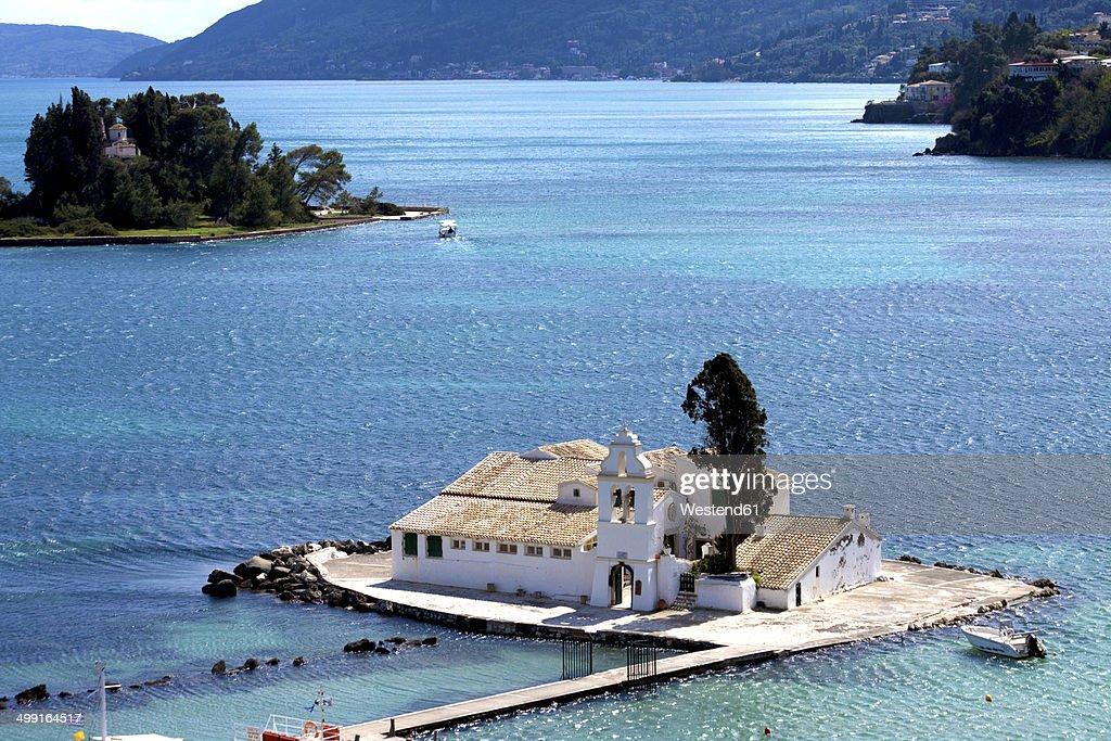Greece, Corfu, Corfu Town, Vlacherna Monastery : Stock Photo
