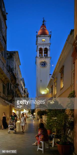Greece Corfu Island Corfu Town Bell Tower of the Church of Saint Spiridon