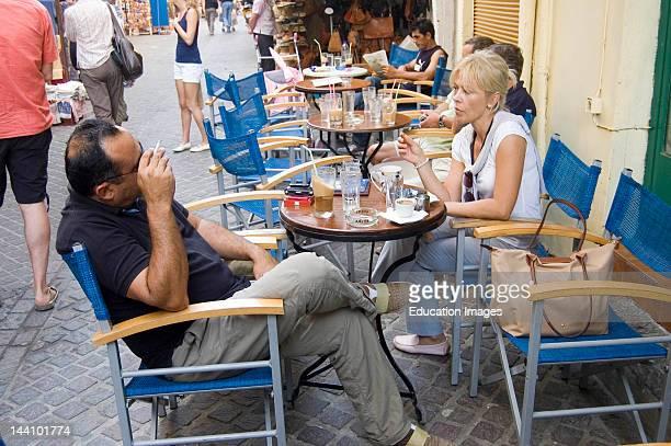 Greece Crete Chania Outdoor Cafe