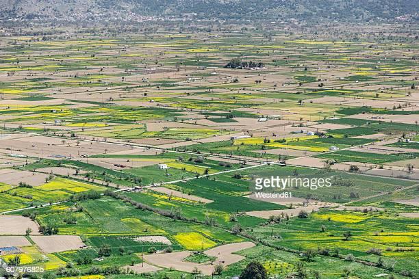 Greece, Crete, Fields at Lasithi Plateau