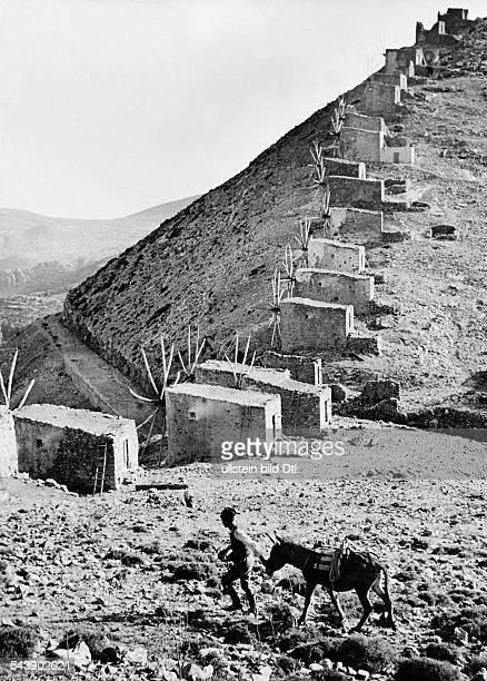 Greece Crete Saddle of the 30 windmills in the Lassithi mountains Photographer Bernd Lohse 1954Vintage property of ullstein bild