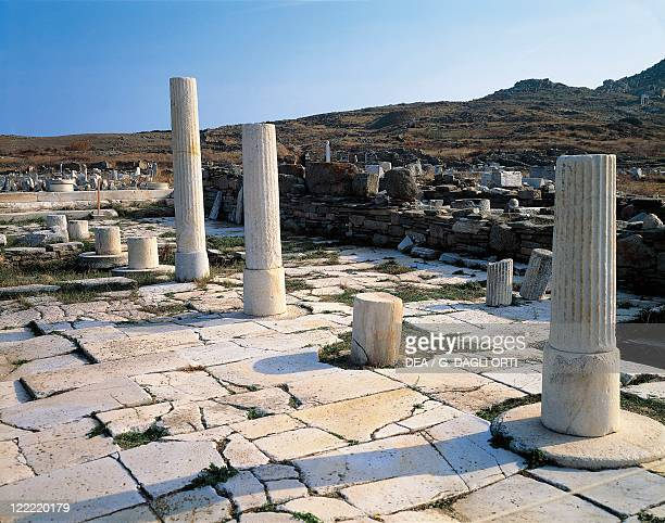 Greece Cyclades Islands Delos House of the Naxians from the mid6th century bC